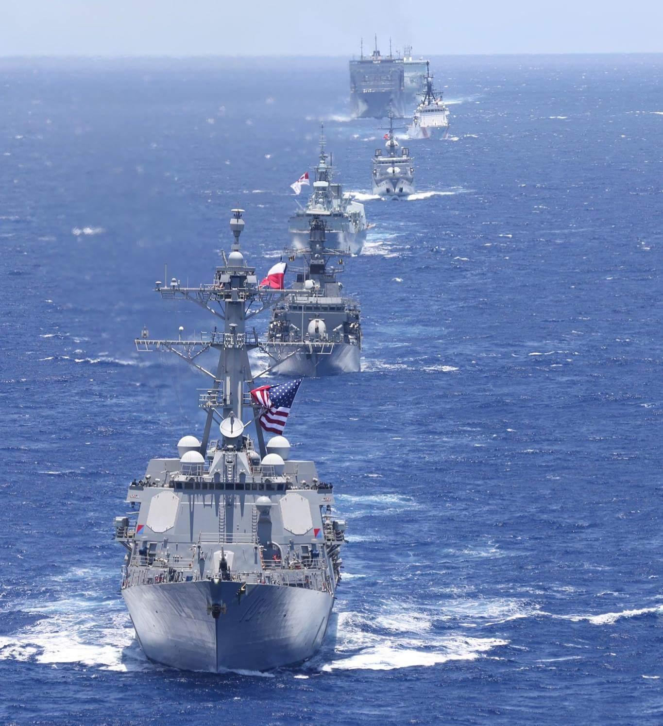 Multinational Fleet Sails in Formation Ahead of RIMPAC 2018