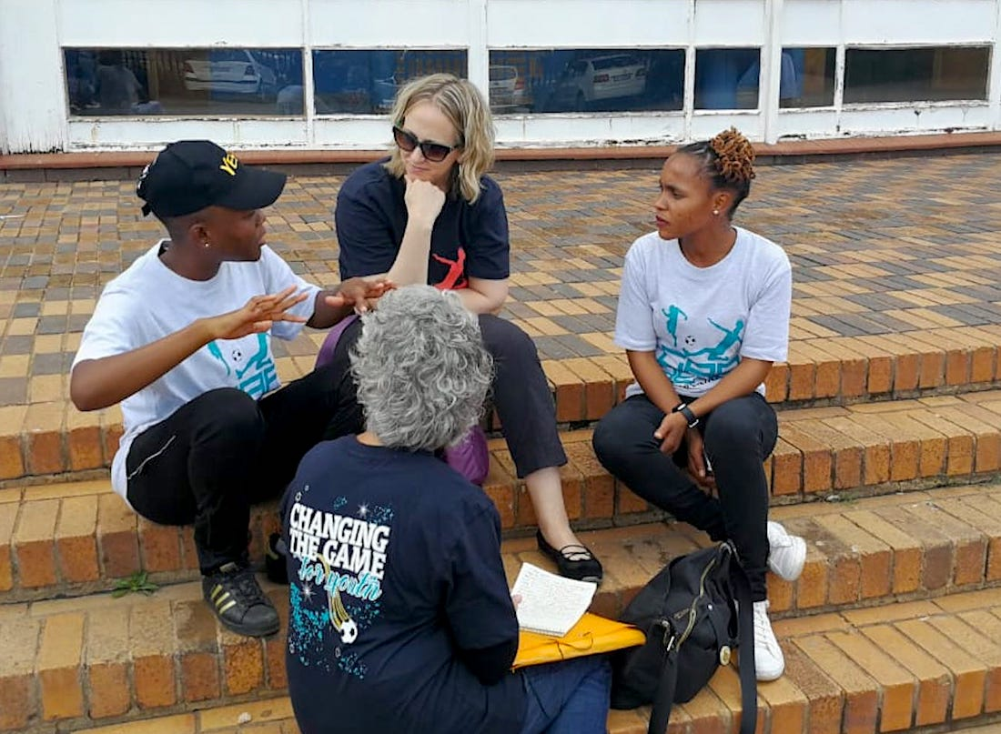 The author with South African HIV advocates.