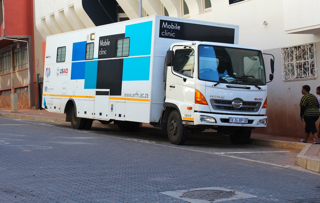 A mobile clinic which aids in the HIV response